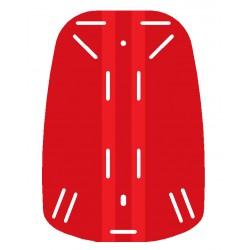 Placa espaldera roja