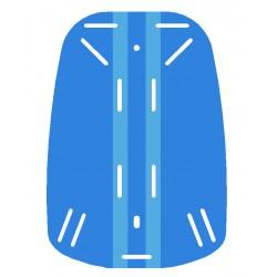 Placa espaldera azul