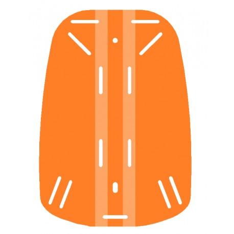 Placa espaldera naranja