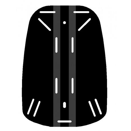 Placa espaldera negra